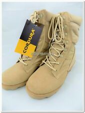 US ARMY Jungle Desert Combat Patrol Mens Tactical Boots Suede Leather Khaki New
