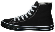 Canvas Shoes black Sneakers trainers Size 37 38 39 40 41 42 43 44 45 46