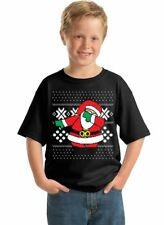 Funny Ugly Christmas Kid's Youth T-Shirt - BLACK - funny Merry Xmas sweater