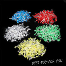 500Pcs,5MM,3MM LED Diode Kit Mixed Color Red Green Yellow Blue White
