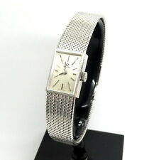 Vintage Ladies OMEGA 18K Solid White Gold Mesh Band 484 17J Watch 8101 A74980