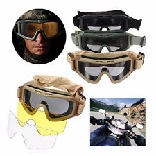 CS Airsoft Tactical SWAT Goggles Anti-fog Glasses Eye Protection Mask+2 Lenses