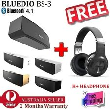 NEW Bluedio BS-3 Portable Bluetooth Speaker + FREE H+ Bluetooth Stereo Headphone