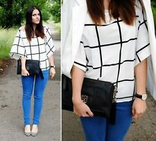 ZARA CHECKED BLOUSE REF. 2250/070 BLOGGERS FAVORITE SIZE S