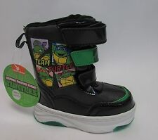 Nickelodeon TNT Turtles Toddler Boys Light Up Snow Boots Sz 7, 8 NWOB
