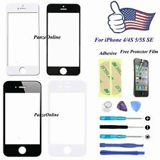 Front Outer Screen Glass Lens Replacement for iPhone SE 4/4S 5/5S+Repair Kit