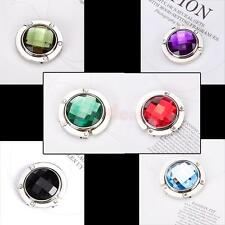 Multicolor DIY Crystal Rhinestone Foldable Handbag Purse Bag Hook Hanger Holder