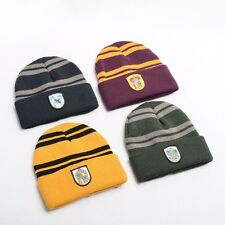 Harry Potter Winter Hat Cap Hogwarts Gryffindor Slytherin Hufflepuff Ravenclaw