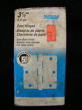 National Door Hinges PN N142-794 512, (qty 2 per pack), satin brass finish, NOS