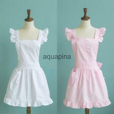 Sweet Girls Apron Vintage Housemaid Dress Apron Maid Dress Cosplay Apron-2 Color