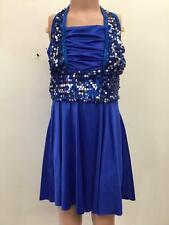 Dance Costume Adult Child Sizes Royal Blue Jazz Tap Dress Group Competition