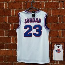 Movie Jersey Space Jam Michael Jordan White Black #23 Basketball Tune Squad