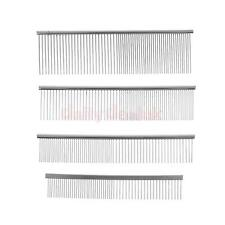Dog Cat Pet Stainless Double Row Teeth Brush Grooming Hair Comb Rake Tool 4 Size