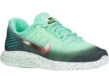 NEW WOMENS NIKE LUNARGLIDE 8 RUNNING SHOES TRAINERS GREEN GLOW / METALLIC RED BR