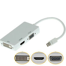Mini DisplayPort to VGA HDMI DVI Converter Adapter Cable for Apple MacBook Happy