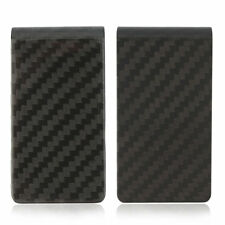 New Carbon Fiber Money Clip Matte Black Credit Card Holder Money Wallet EA