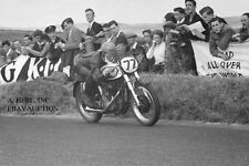 Norton 350cc factory racer & Jack Brett - Ulster GP 1953 - photo 1 photograph