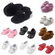 Infant Toddlers Baby Boys Girls Soft Soled Tassel Crib Shoes PU Moccasins