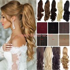 Long New Claw Jaw Ponytail Clip In Hair Extensions Real as human Fake HairPiece