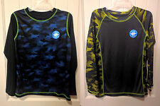 NWT OT Sport Boys Camouflage Long Sleeve Active T-Shirt Size 6-18 Wicks Moisture