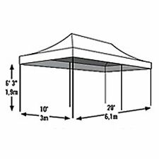 ShelterLogic 10 x 20 ft. 6-Leg Pop Up Canopy
