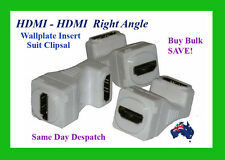 HDMI - HDMI- Right Angle Wall Plate Insert - (For White Wall Plate)