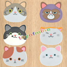 Cute Cat Shape Tea Coasters Cup Holder Mat Pads Coffee Drinks Silicone Placemat