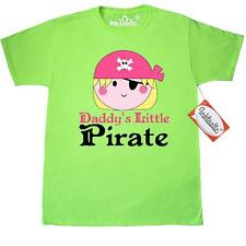 Inktastic Pirate Girl Daddys Little T-Shirt Cute Pink Skull And Crossbones Funny