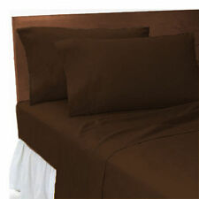 1500TC HIGH QUALITY BROWN SOLID LAVISH BEDDINGS 100% EGYPTIAN COTTON ALL SIZES!!