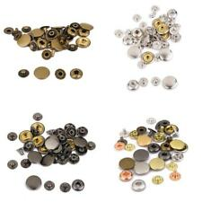 Heavy Duty Metal Snap Fasteners Press Studs Buttons for Sewing Leather Crafts