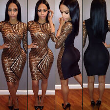 Women Sexy Bodycon Bandage Sequin Clubwear Dress Cocktail Party Short Mini Skirt