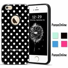 Hot White Polka-dots Candy Colors TPU Hard Case Cover For iPhone SE 5S 6 6S Plus