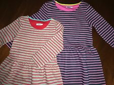 NWT 8 9/10 or 11/12 Mini Boden Johnnie B Striped Skater Dress Two Colors
