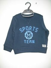BNWOT Mothercare Navy Sweatshirt/Jumper. Boys. Age 18 Months to 8 Years