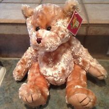 "TEDDY BEAR STUFFERS Brown Shaggy Plush Toy 14"" Stuffed Animal Zipper Back"