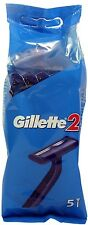 Gillette 2 Disposable Twin Blade Shaving Razors (5 Razors In Pack) for MEN/WOMEN