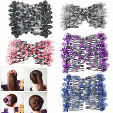 Magic Beads Elasticity Double Hair Comb Clip Stretchy Hair Fashion Combs Clips