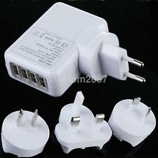 Portable AC 100-240V 4 USB Ports Wall AC Charger Adapter US/EU/AU/UK Plug New US