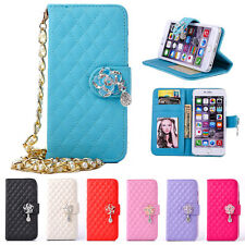Fashion Luxury Grid Chain Wallet PU Leather Case Cover For Apple iPhone 7/7 Plus