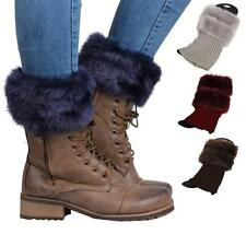 Lady Soft Faux Fur Ankle Lower Leg Warmer Boot Sleeve Cover Socks Darling Gift