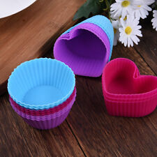 8pcs Round Heart Silicone Muffin Chocolate Cupcake Mold DIY Baking Cup Mold Sets