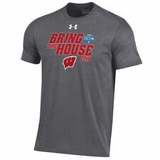 Under Armour Wisconsin Badgers Gray 2017 Cotton Bowl Bound T-Shirt - College
