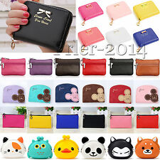 Womens Girls Mini Wallet Card Holder Bag Coin Key Pouch Purse Clutch Zipper Bags