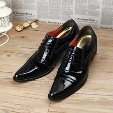England Mens Pointy Toe Dress Formal Lace Up Oxfords Casual Patent leather Shoes