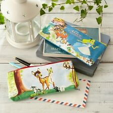 DISNEY Alice Bambi Pen Pouch Purse Cosmetic Case Makeup Bag Made in Japan T3724