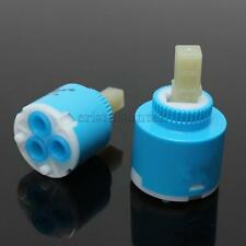 Blue 35mm/40mm Bathroom Faucet Valve Mixer Tap Hot & Cold Ceramic Disc Cartridge