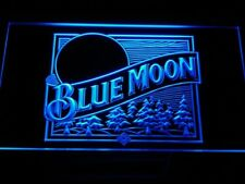 Beer LED Neon lighted sign Blue Moon home Bar Pub alcohol decor wall hangings ma