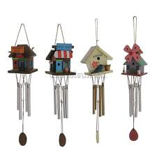 Wooden 4-Copper Tube Windchime Wind Chime Bell Garden Outdoor Decor Xmas Gift