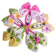 Cute Baby Toddler Kid Girl Hair Bow Flower Snap Clip Hairwear Headwear Barrette