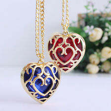 Women's Chain Heart Shape Red/Blue Stone Fashion Jewelry Pendant Necklace